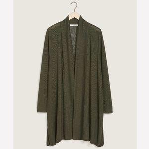 Penningtons Olive Green Long Duster Cardigan Plus